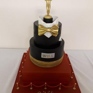 Oscars 31st cake - Cake by Sue's Sugar Art Bakery
