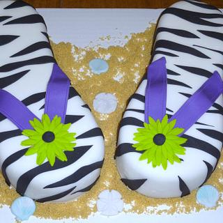 Kaitlyn's flip flops