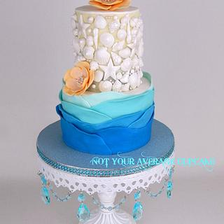 It's a Nice Day for a (Key West) Wedding  - Cake by Sharon A./Not Your Average Cupcake