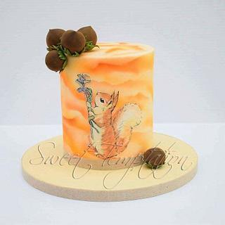 CPC Beatrix Potter Collaboration - Squirrel Nutkin Cake