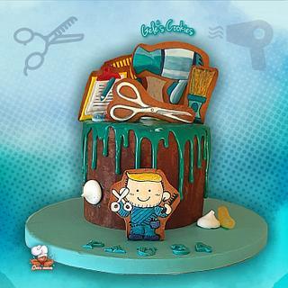 Hairdresser Drip cake