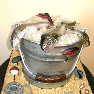 Fish bucket cake