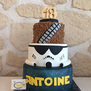 Star wars cake - Cake by Alexandra Smadja (Ma Boîte à Gâteau)