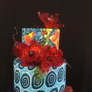 Sliced fondant technique cake (workshop Serdar Yener) - Cake by Bonnie's 🧡 Bakery