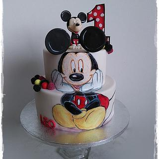 Hand painted Mickey Mouse