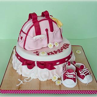 Pink baby cake