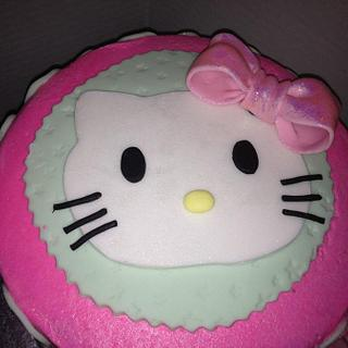 hello Kitty pink and mint green