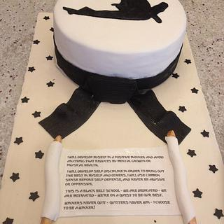 karate - Cake by Forgoodnesscakes