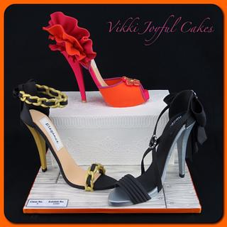 Sugar stilettos - Canberra Show entry - Cake by Vikki Joyful Cakes