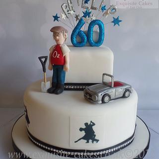 60th birthday cake - Cake by Natalie Wells