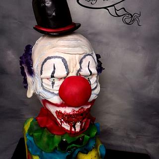 Scary killer clown