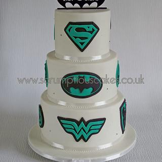 Superhero Icon Wedding Cake