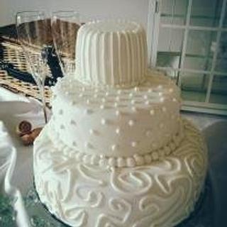 3 Tier Royal Iced Wedding Cake
