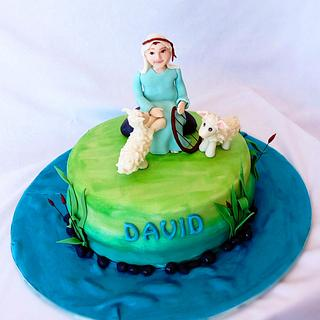 David and his Sheep - Cake by Minna Abraham