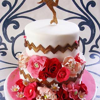Artistic Roller Skater Cake