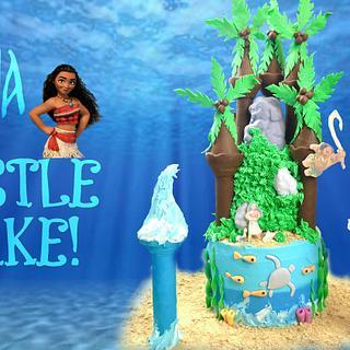 Moana CASTLE CAKE!