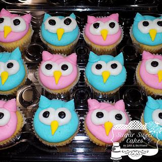 Owls - Cake by Sugar Sweet Cakes
