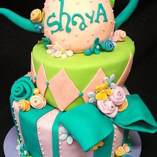 Whimsical Tea Party - Cake by Elyse Rosati