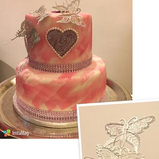 Simple Elegant Butterfly Cake
