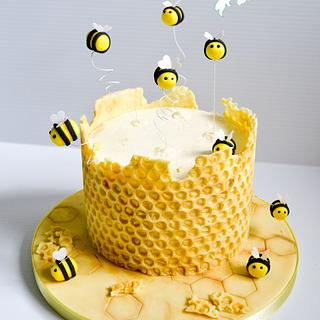 Honey Bee Cake/tutorial
