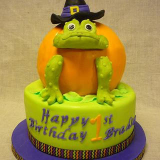Icing Smiles Halloween 1st birthday cake - Cake by WithCherriesOnTop