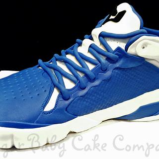 Blue Air Jordan Sneaker