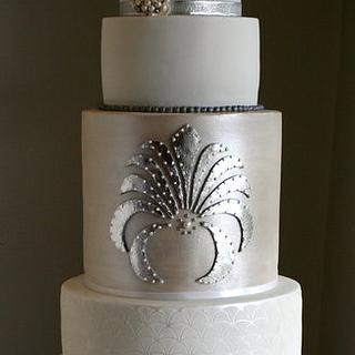 Silver Art Deco Cake