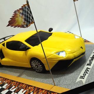 Lamborghini Aventador Cake - Cake by Custom Cakes by Ann Marie