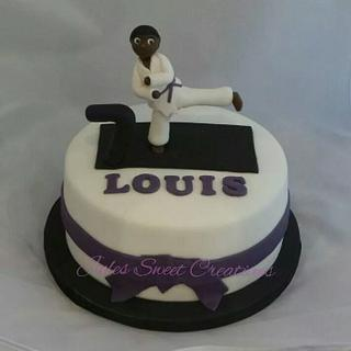 karate kid birthday cake - Cake by Jules Sweet Creations