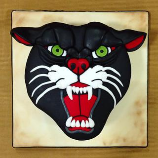 Traditional Panther cake