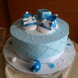 Baby shower- bouncy boy  - Cake by Expressions