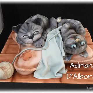Kittens cake - Cake by Adriana D'Albora