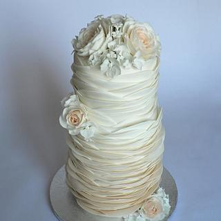 Sandstone wedding  ruffle cake
