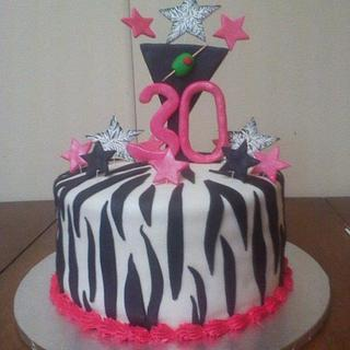 30th birthday BASH !!! - Cake by CC's Creative Cakes and more...