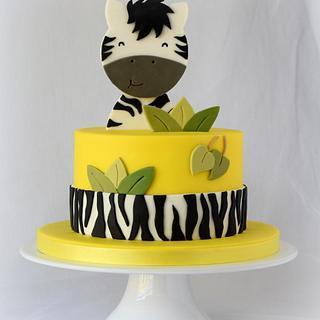 Happy Zebra Cake