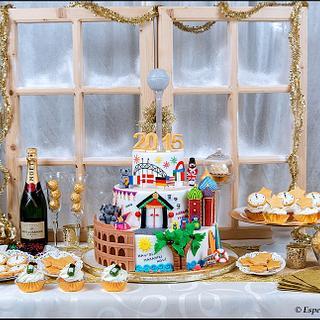 New year's eve sweet table - Cake by Esperimenti di Zucchero