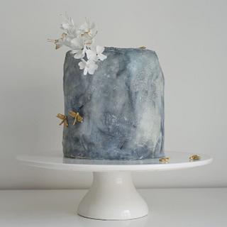 Stone textured cake