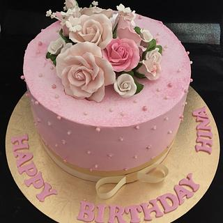 50 th birthday cream cake !