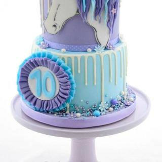 Girl Horse Birthday Cake