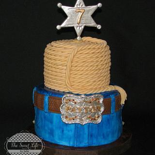 Jeans & Lasso cake