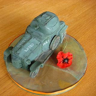 1914 Rolls Royce WWI Armoured Vehicle Cake