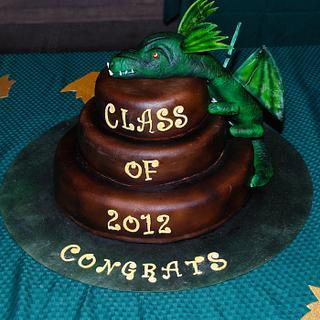 Dragon Graduation Cake