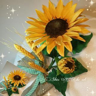 Sunflower and grain