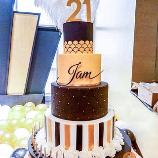 Gatsby themed cake - Cake by The Sweetery - by Diana