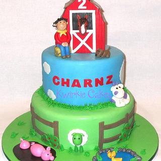 Barnyard cake for 2 year old