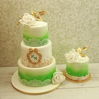 Nuray's wedding cake