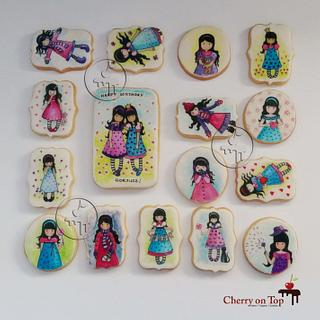 Hand painted Gorjuss cookies