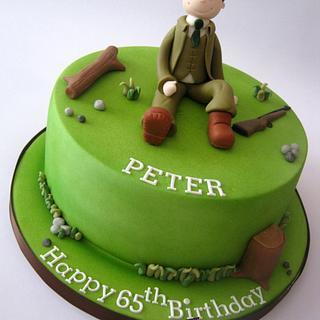 Shooting Themed Birthday Cake