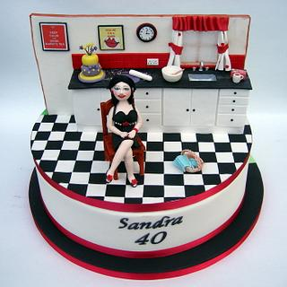 Sandra's 40th birthday cake