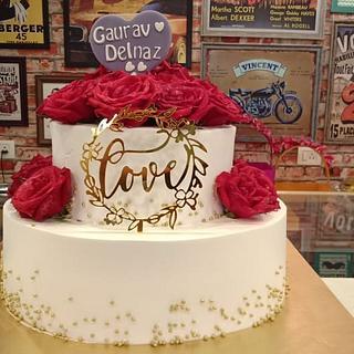 Cream based Engagement cake ..